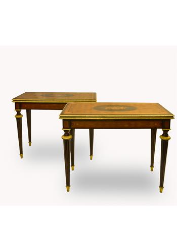 par de mesas francesas estilo luis xvi