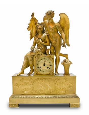 Reloj Frances de bronce de estilo imperio