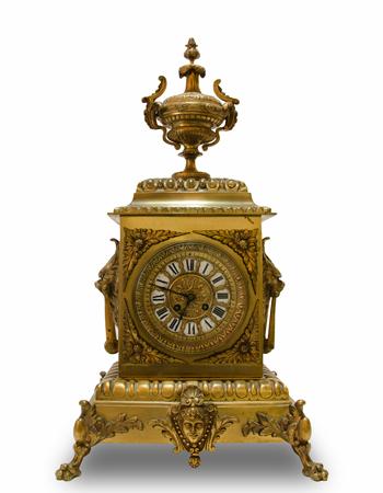 Reloj frances de bronce del siglo XIX
