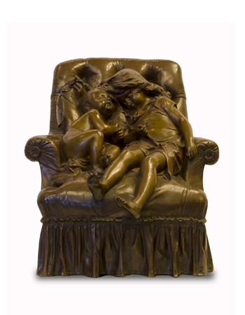 Escultura de bronce francesa firmada A.Croisy
