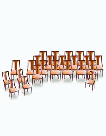 Juego de sillas estilo Luis XVI