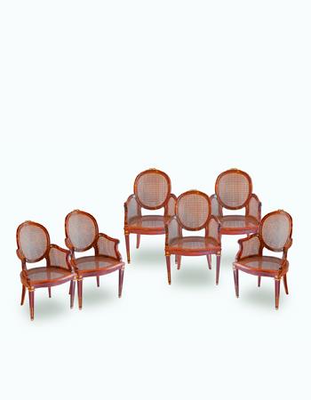 Juego de sillones estilo luis xvi