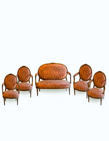 Elegante juego de Sala Frances Louis XVI