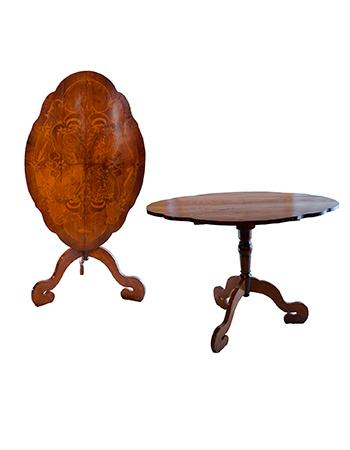 Antigua mesa inglesa Isabelina Tilt-Top