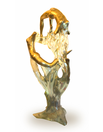 Escultura en acrilico y bronce por Max Forte