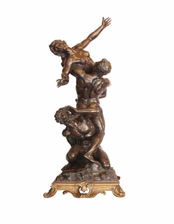 Fina escultura de bronze del Rapto de la Sabinas por Giambologna