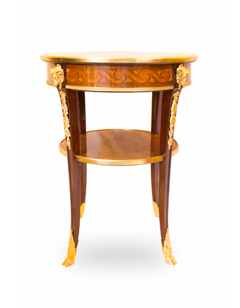 Par de mesas francesas con marquetería