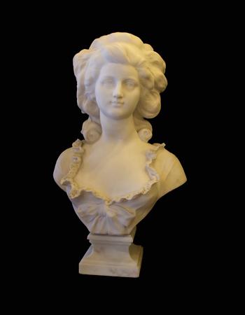 Marie Antoniette en mármol de carrara