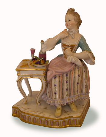 Figura de porcelana alemana de Meissen