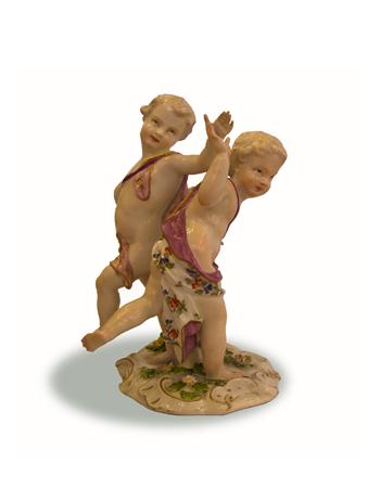 Figura de porcelana de Meissen del Siglo XIX