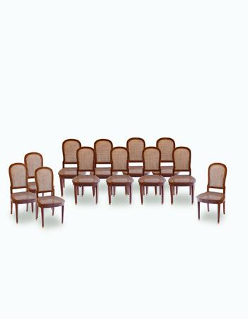 Fino juego de 12 sillas Francesas Luis XVI